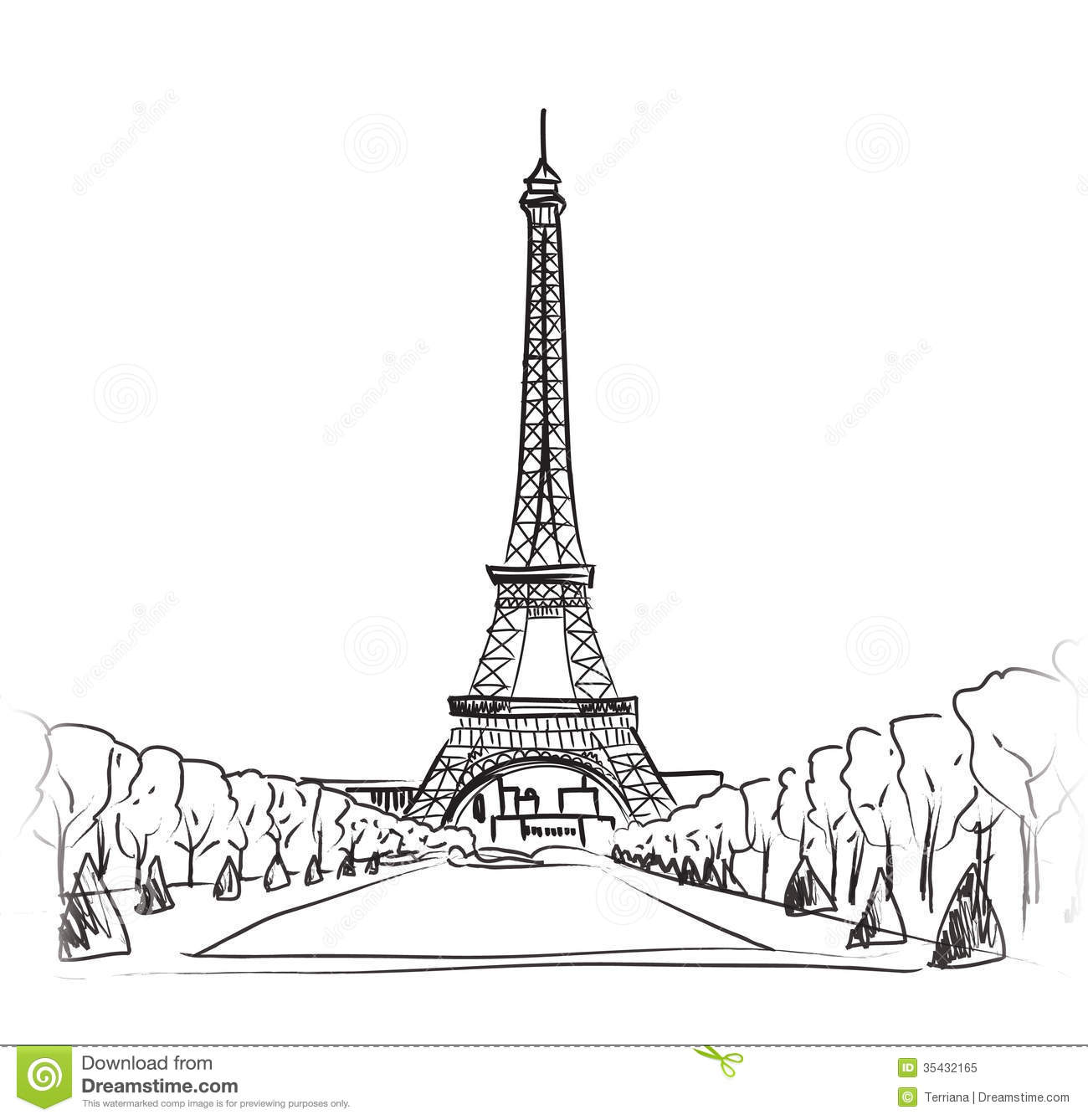 paris eiffel tower illustration set love paris frame vintage collection french cafe