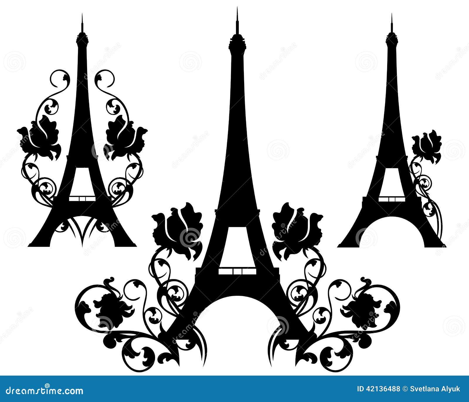 paris en fleurs illustration de vecteur illustration du monument 42136488. Black Bedroom Furniture Sets. Home Design Ideas