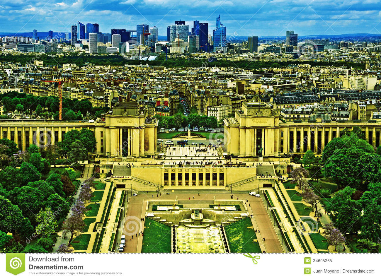 Paris france stock image image of locations defense for Jardins a visiter a paris