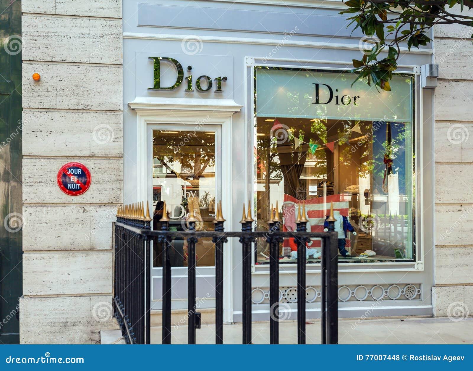 26e0c66b1f16 PARIS, FRANCE - APRIL 7, 2011  Baby Dior Boutique Kids Dress Sto ...