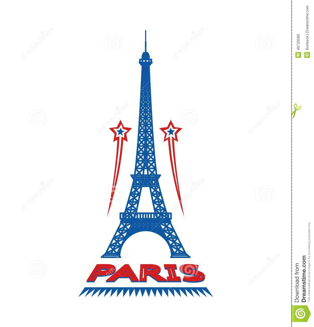 Paris France city label or logo