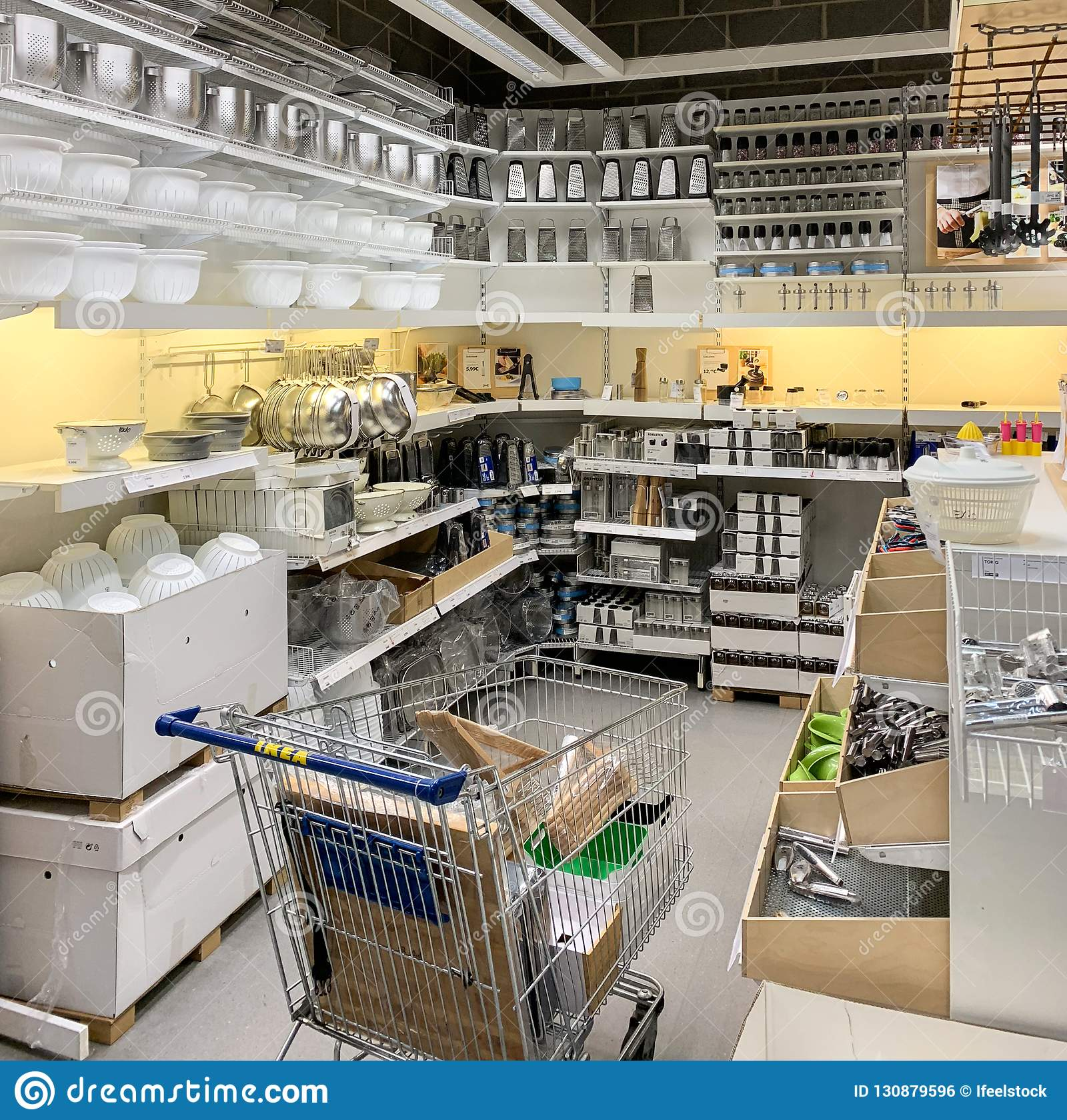 Kitchen Utensils For Sale Inside IKEA Store Editorial Photo ...