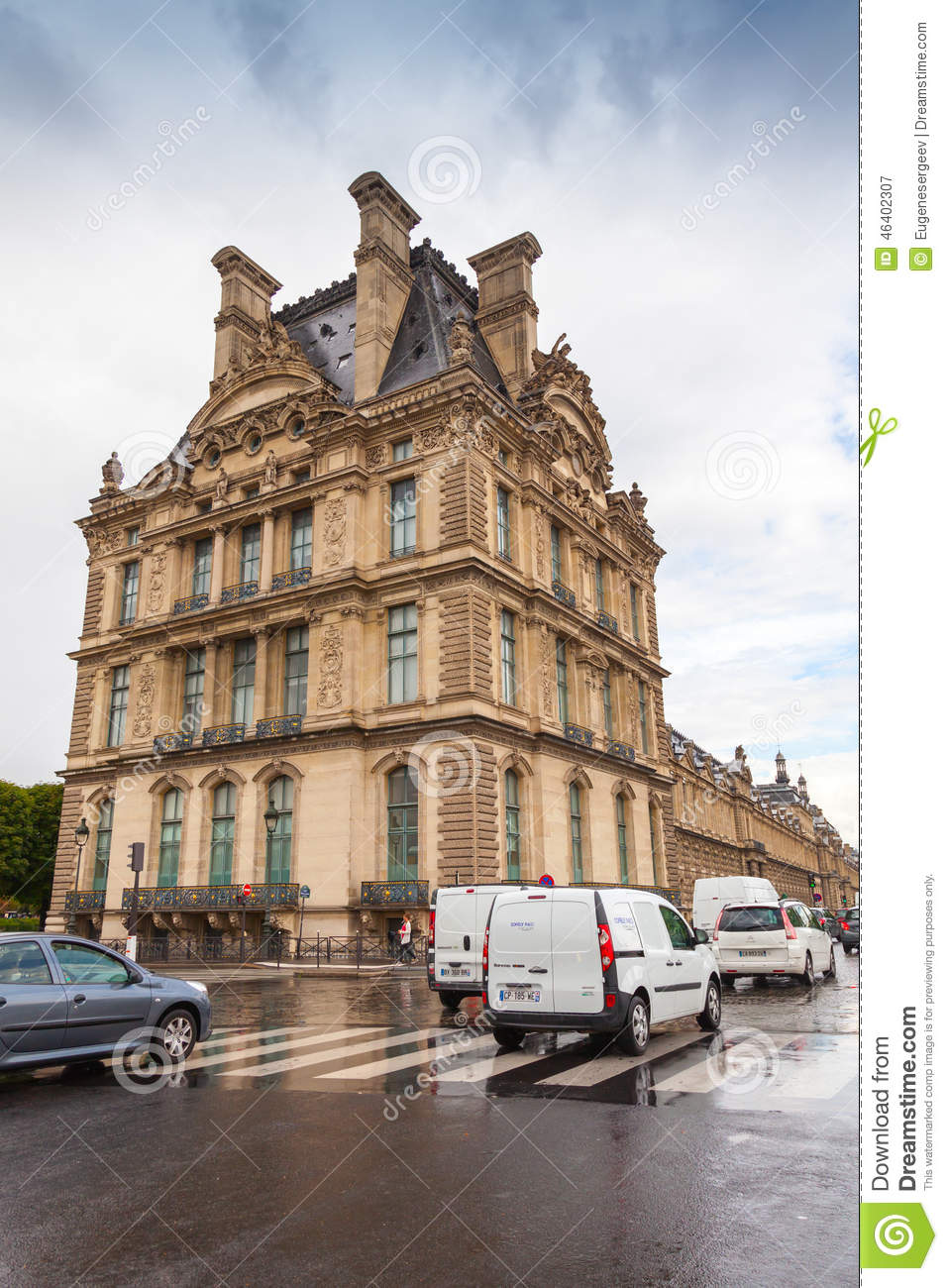 Art Car Museum >> Paris, France, Facade Of Louvre Museum Editorial Photography - Image: 46402307