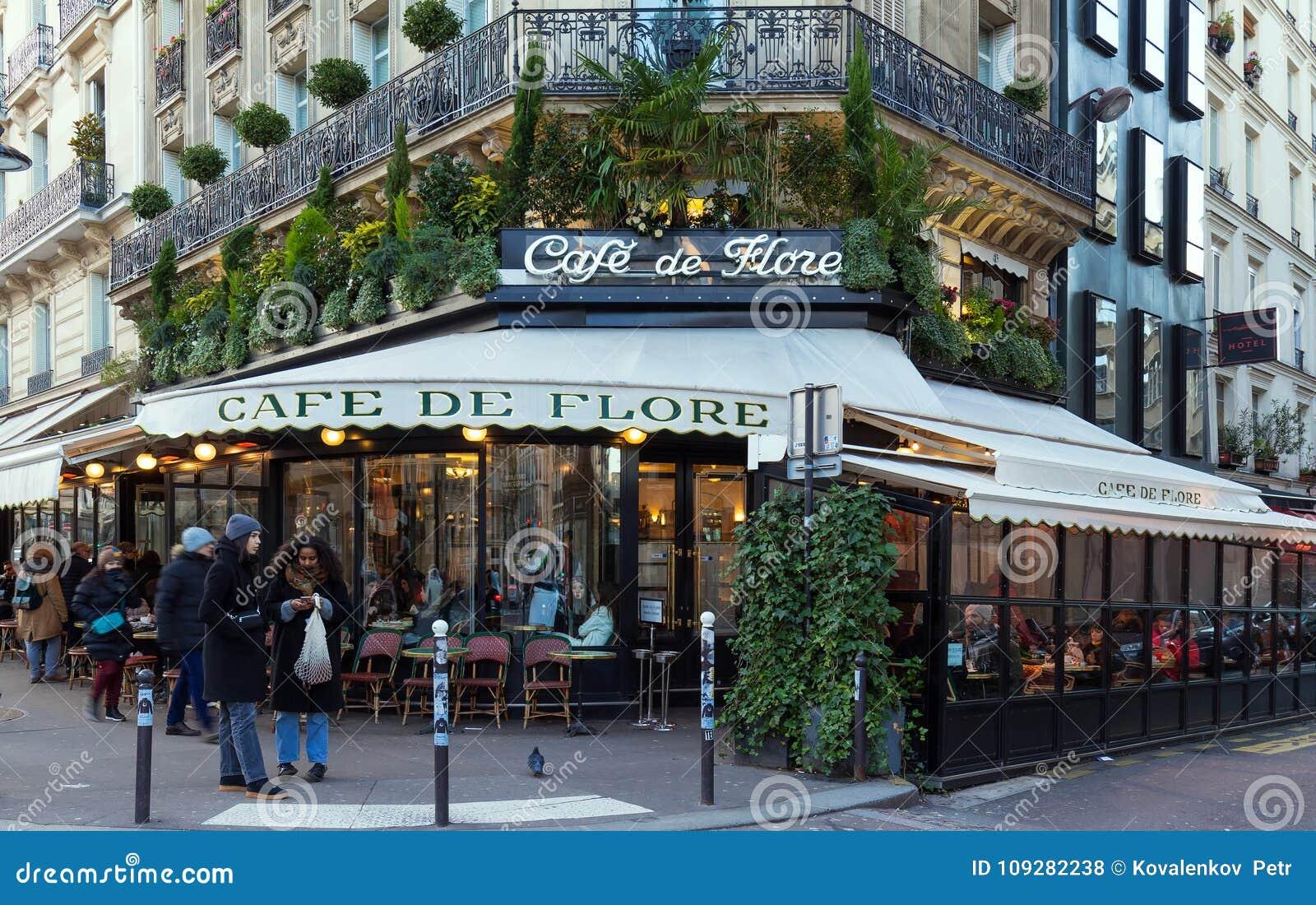The Famous Cafe De Flore Paris France Editorial Stock Photo - Fotos-de-flore