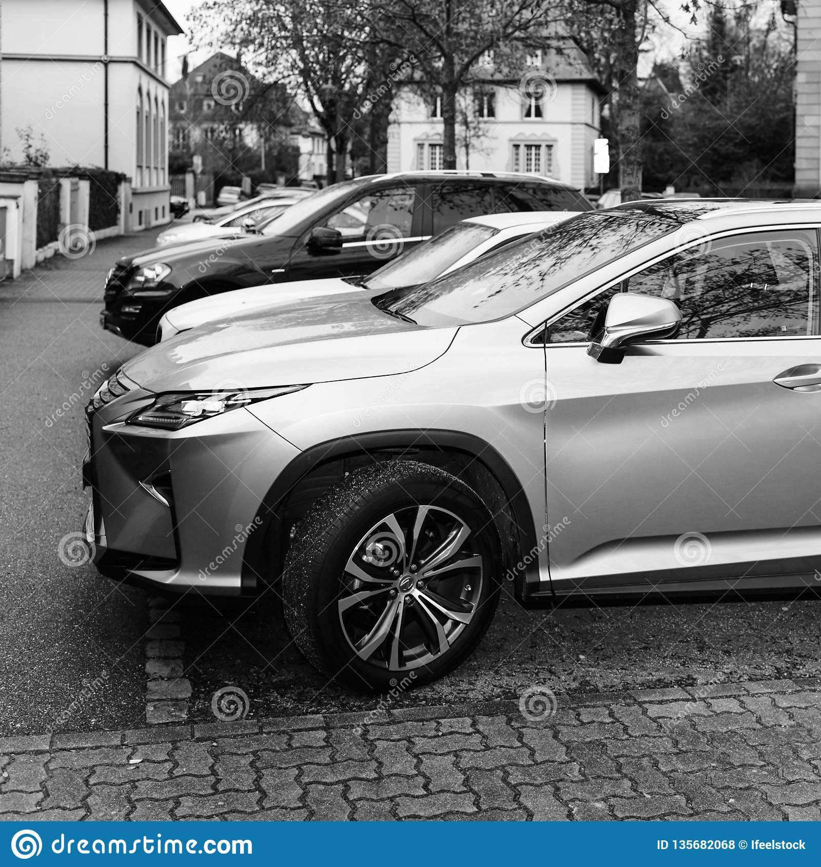 LEXUS RX 450h Luxury Car Parked On The Street In France