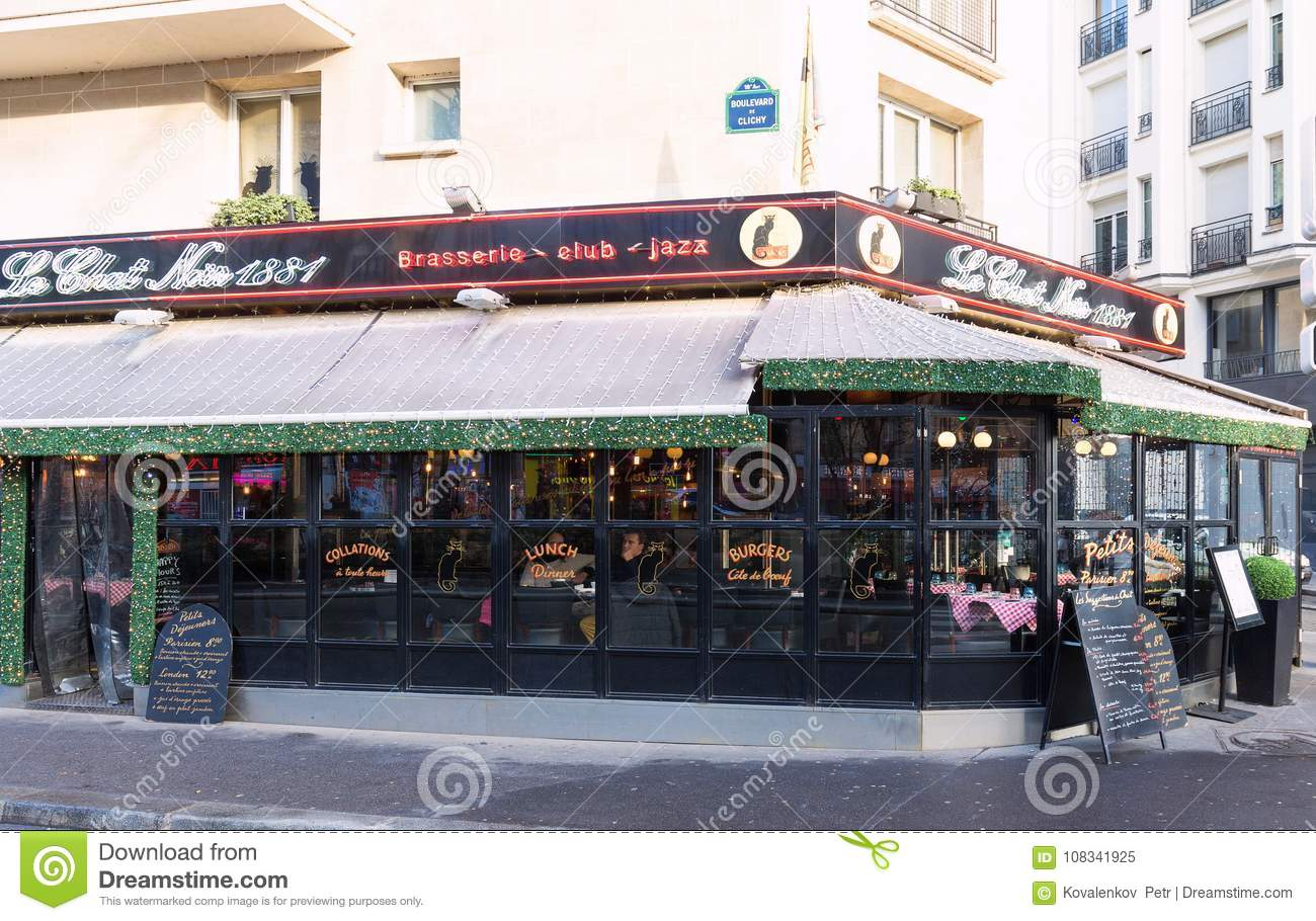 the chat noir is historical bistro located in montmatre. Black Bedroom Furniture Sets. Home Design Ideas