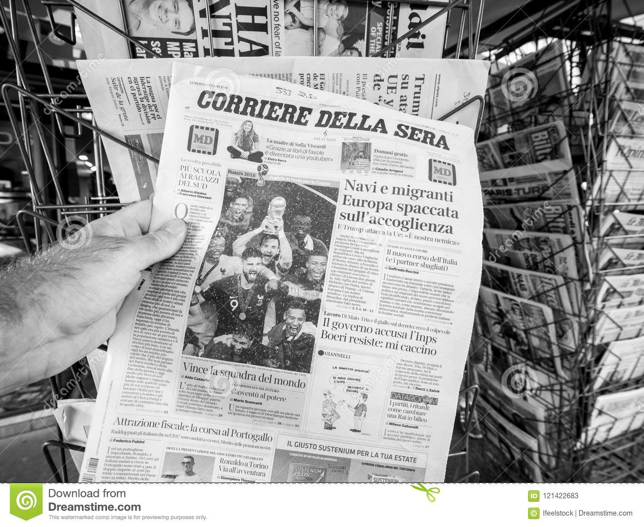Newspaper French National Football Winner Of FIFA World Cup