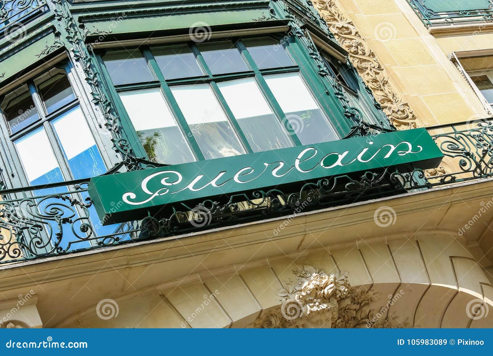 Paris, France - July 14, 2014: Guerlain storefront on the Champs Elysees.