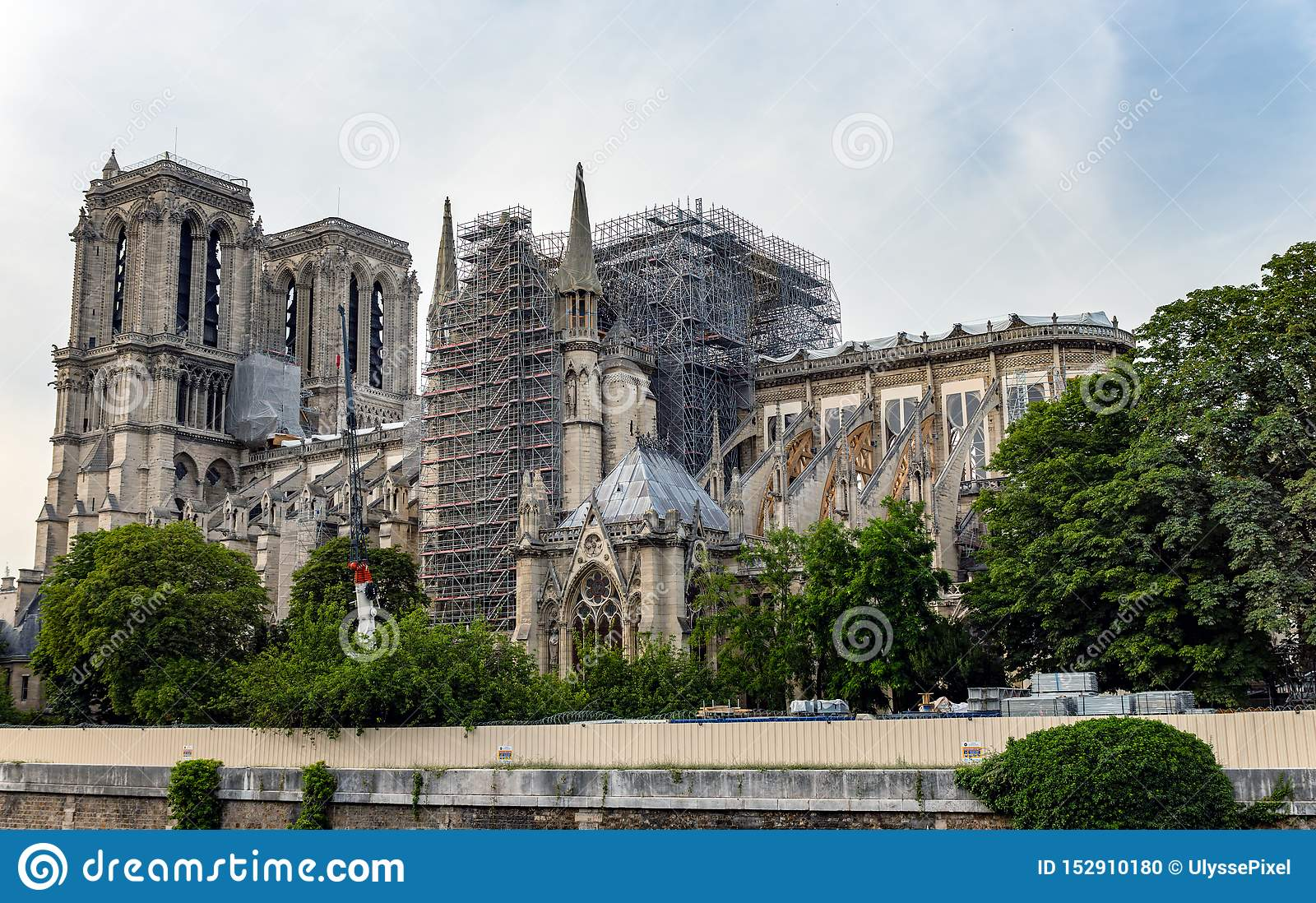 Notre Dame De Paris Reinforcement Of The Flying Buttresses After