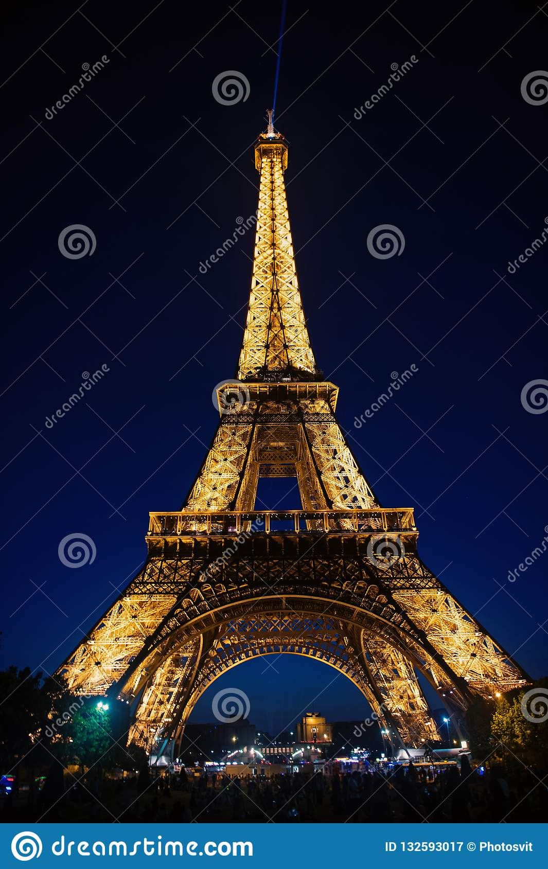 Eiffel Tower At Sunset In Paris France Romantic Travel