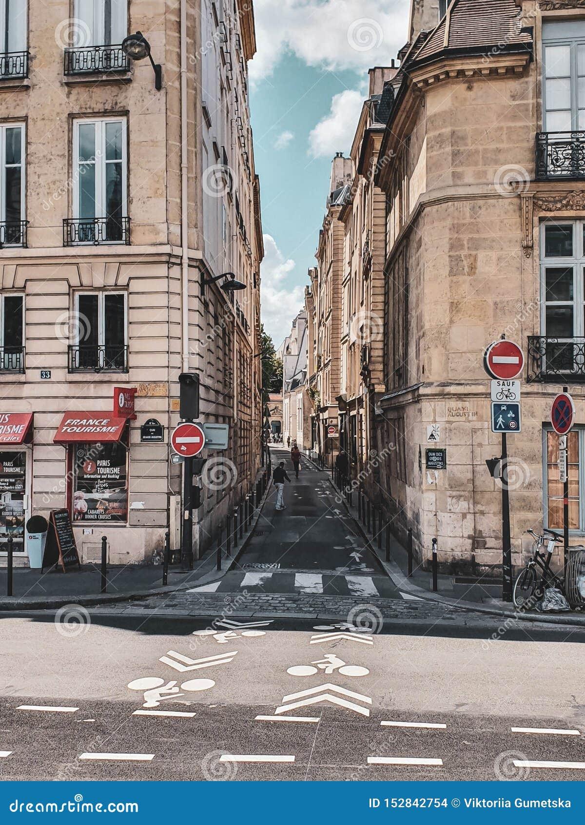 Paris, France, June 2019: Streets of Paris