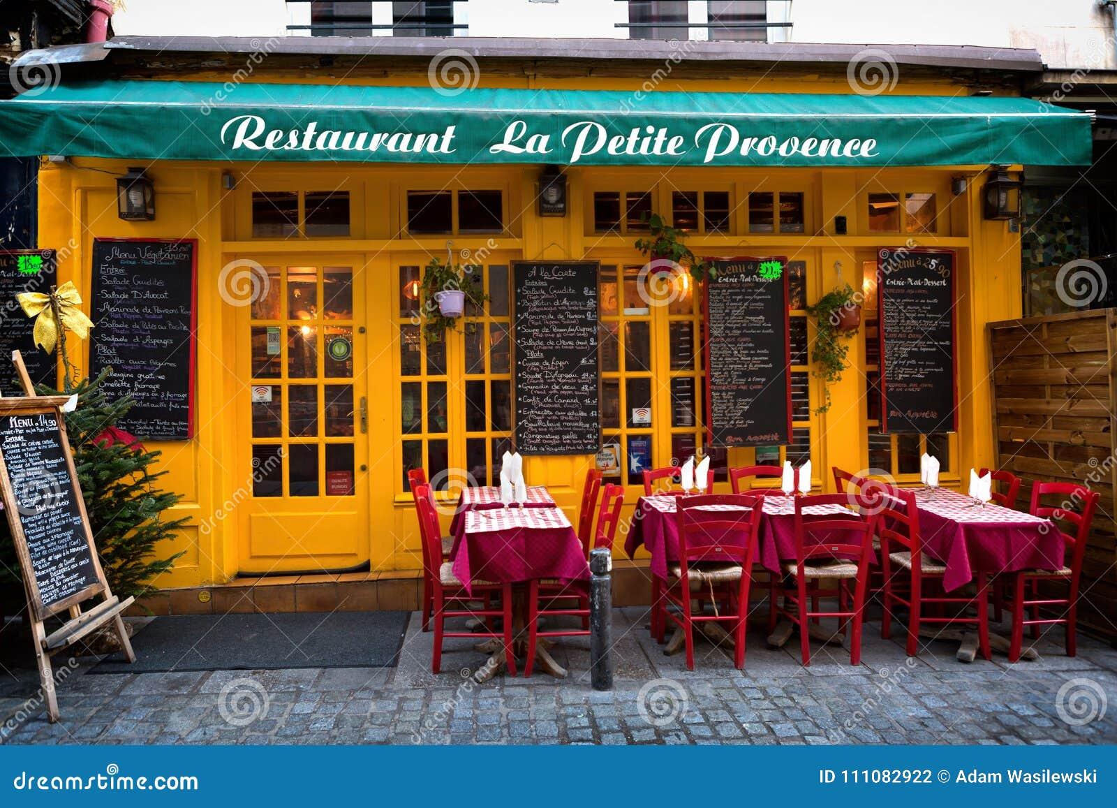 Paris France La Petite Provence 11 12 2016 De Restaurant