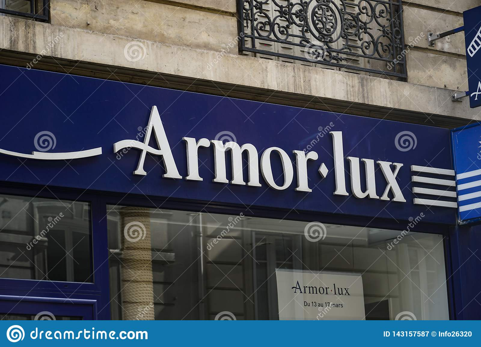cheapest price cost charm outlet Armor Lux French Clothing Store Editorial Photography ...