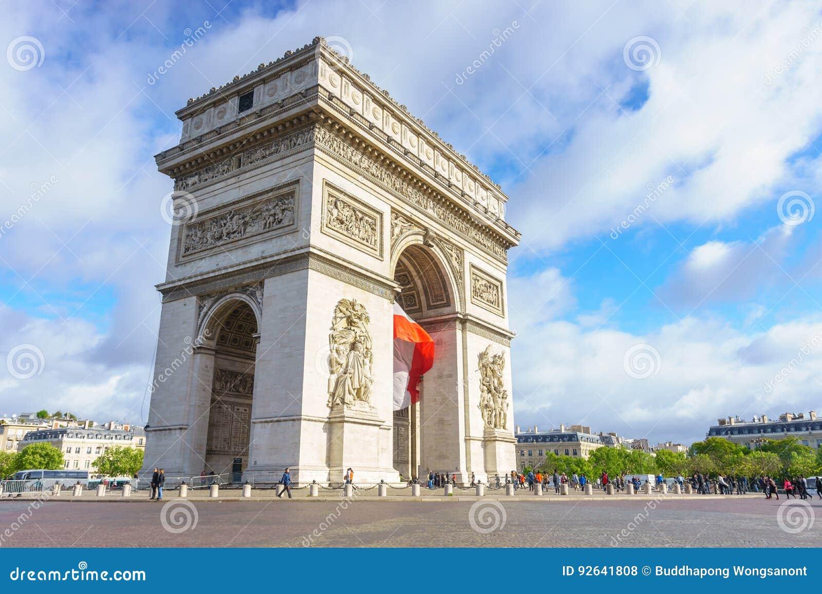 paris france may 1 2017 arc de triomphe arch of triumph editorial stock photo image 92641808. Black Bedroom Furniture Sets. Home Design Ideas