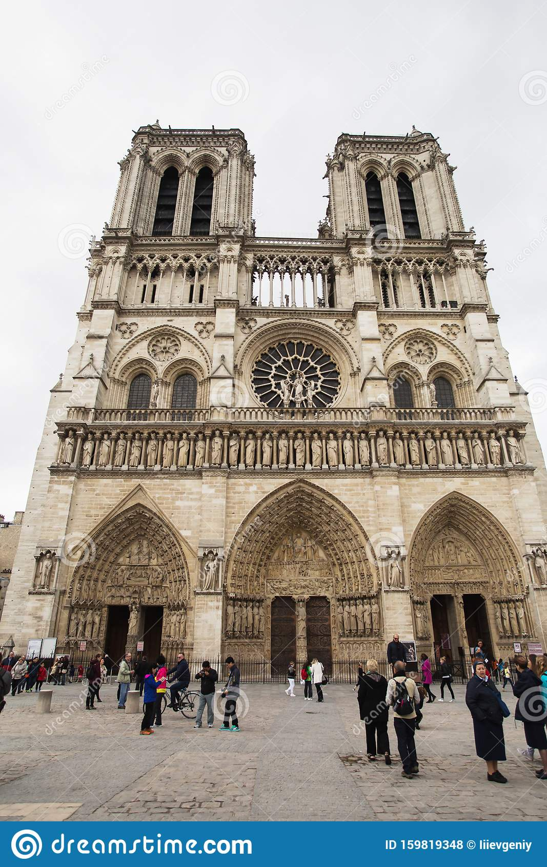 Paris France May 11 2014 Notre Dame De Paris Outside Travel Through Europe Notre Dame De Paris Before Fire Attractions In Editorial Stock Photo Image Of Cityscape Basilica 159819348