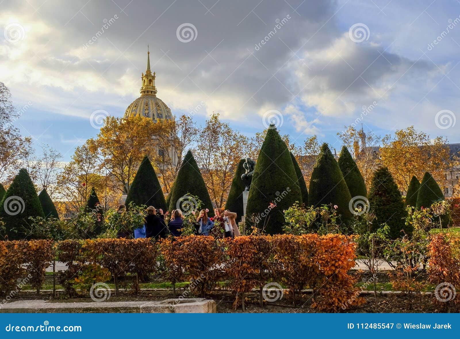 Autumn In Paris. Garden At The Rodin Museum In Paris. France ...