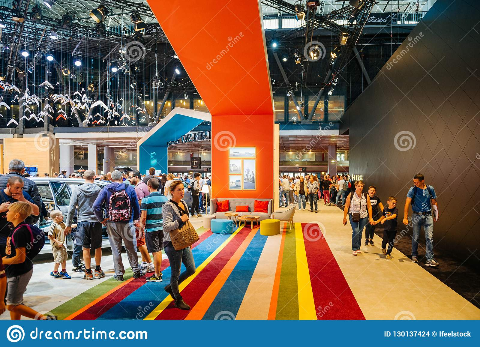 Exhibition Stand Builders France : Interior designed stand at citroen car stand at paris expo