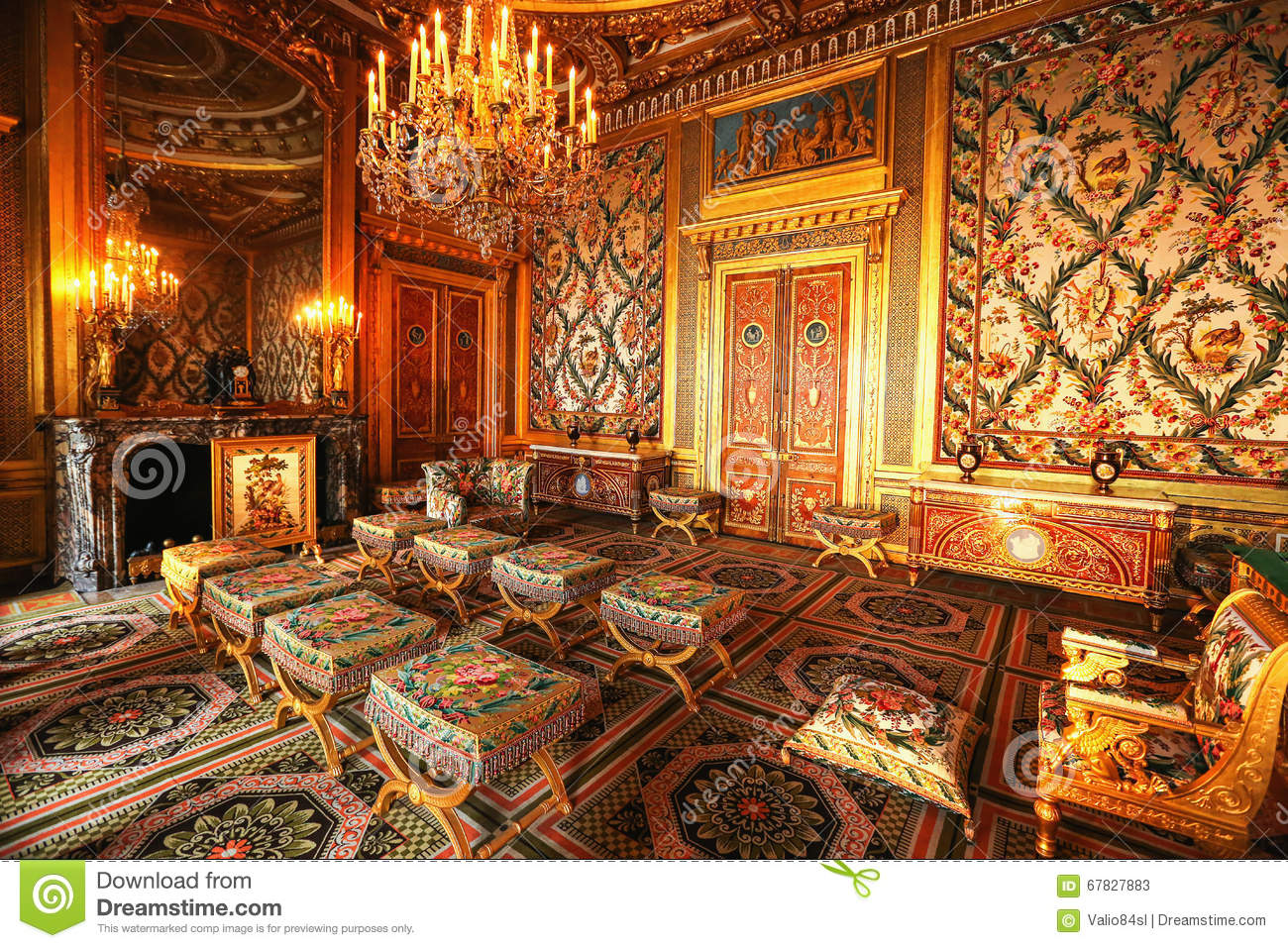 Paris, France, Versailles Palace Interior Stock Image - Image of ...
