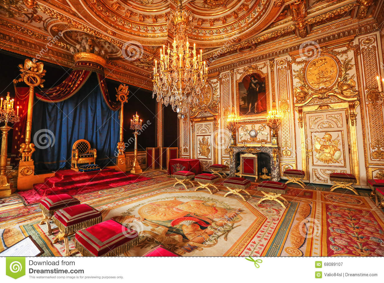 Paris, France, Versailles Palace Interior Editorial Photography ...