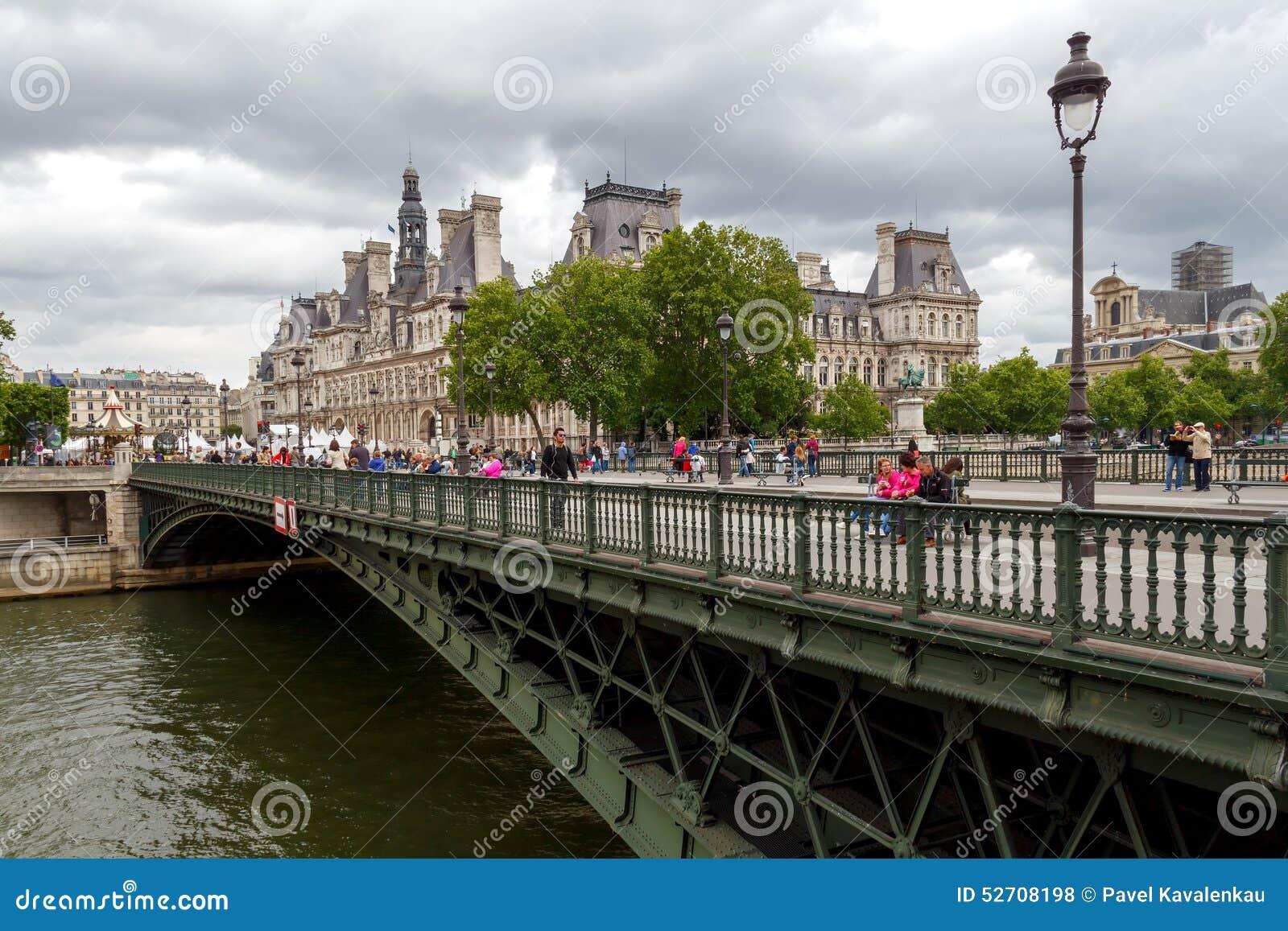 Paris Hotel De Ville Rathaus Redaktionelles Stockfoto