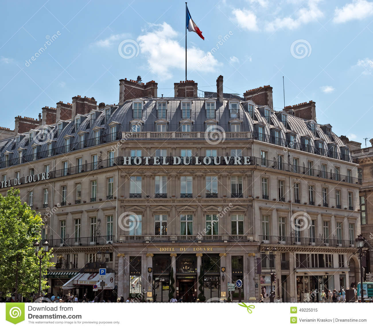 Hotel Du Louvre Editorial Image. Image Of