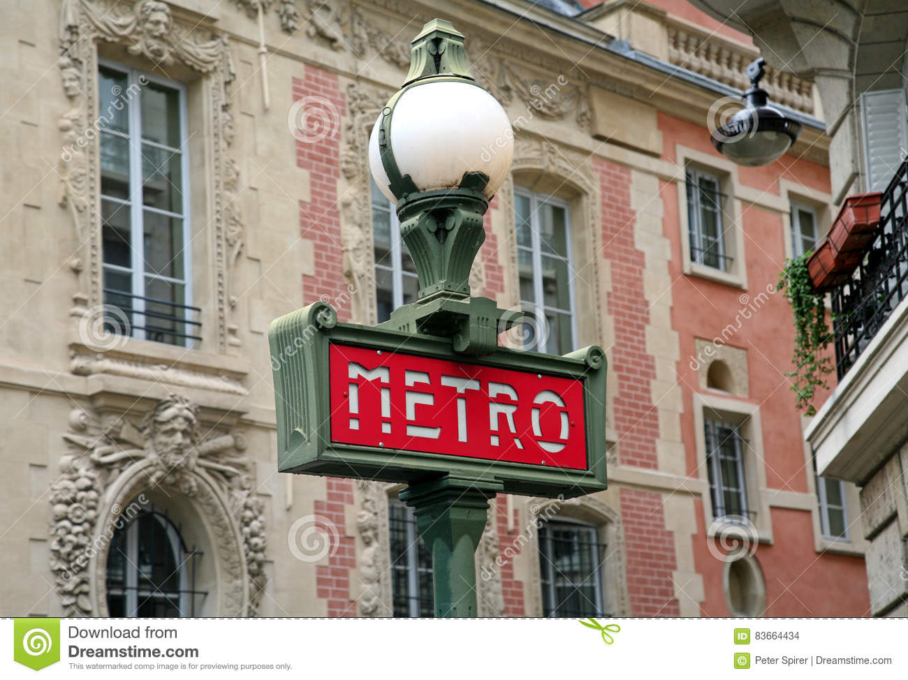 Paris An Iconic Art Deco Style Metrosign Editorial Stock