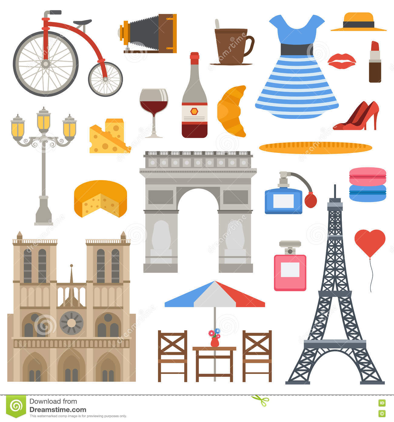 Paris icons vector set. stock vector. Illustration of ... - photo#24