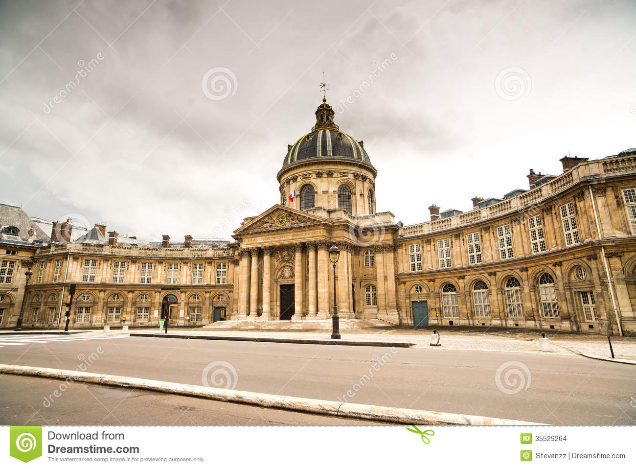 paris institut de france geb ude franz sische akademie von wissenschaften stockbilder bild. Black Bedroom Furniture Sets. Home Design Ideas