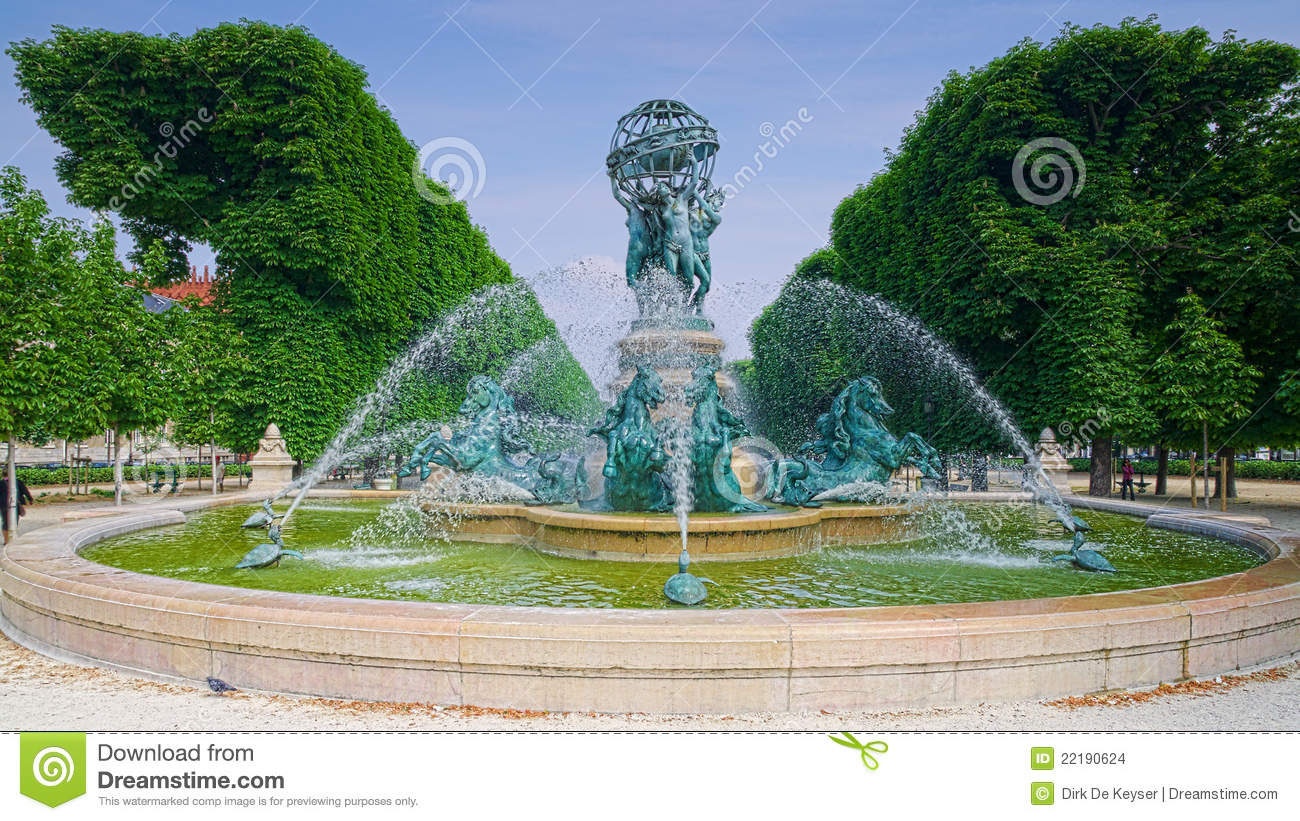 Paris jardin du luxembourg photo stock image 22190624 for Piscine jardin du luxembourg
