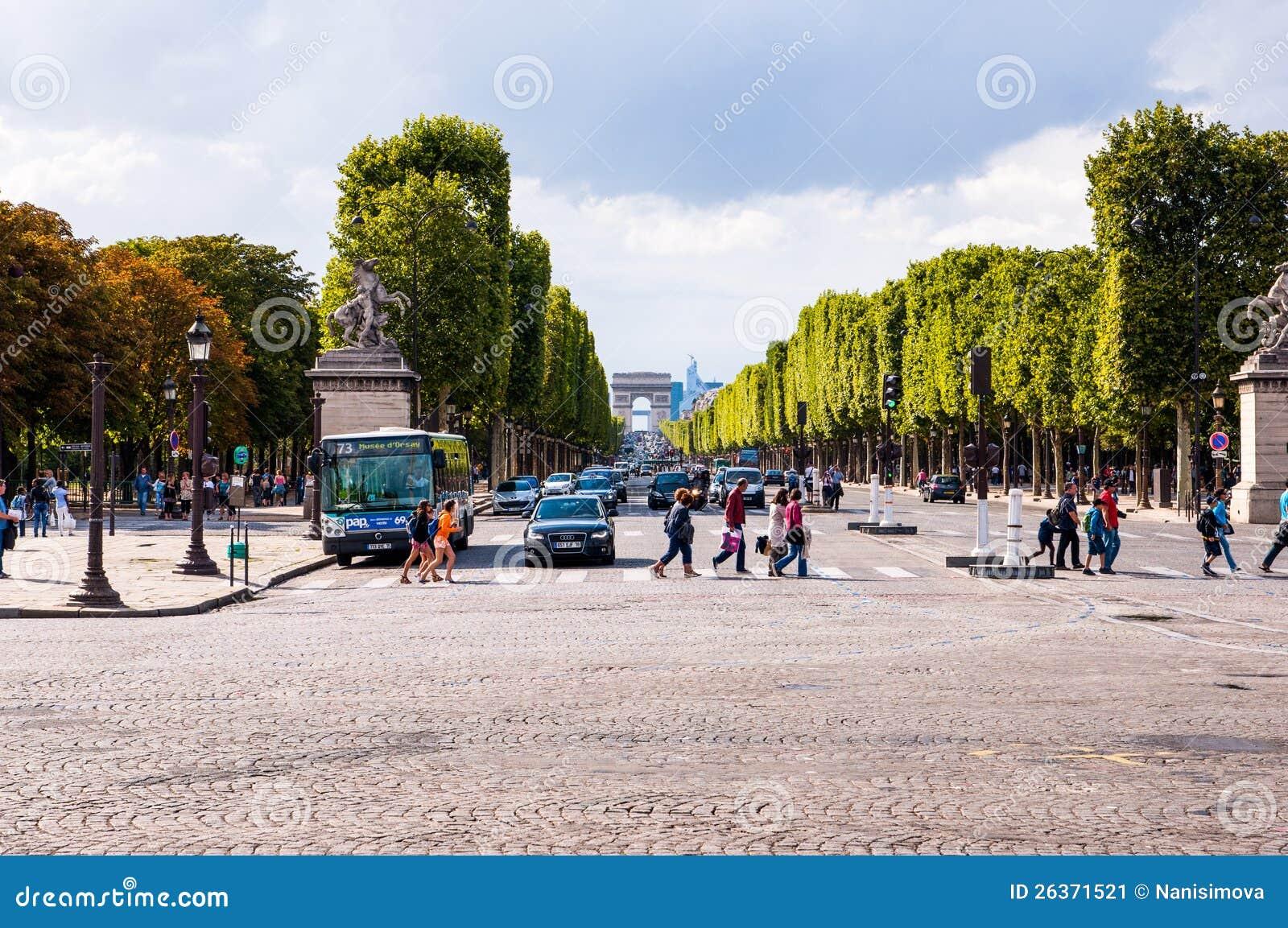 Paris kaut Elysee Straße