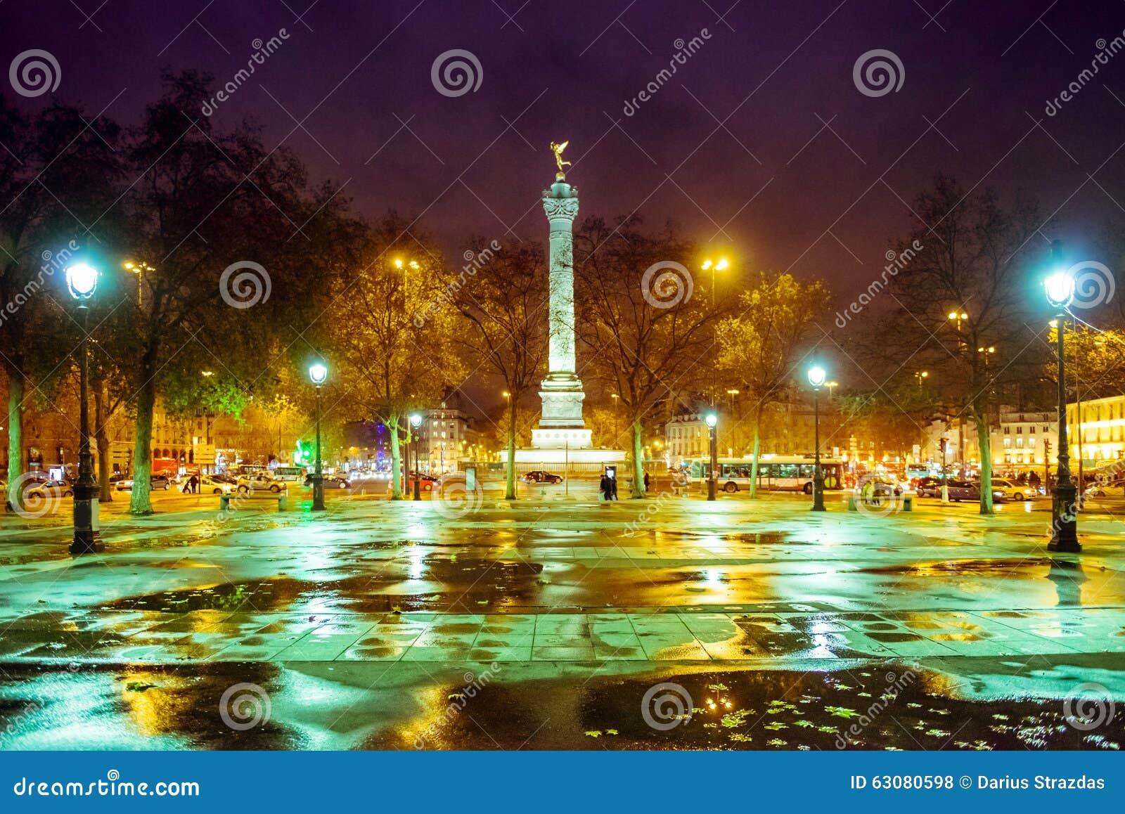 Download Paris la nuit photo stock. Image du europe, nuit, architecture - 63080598
