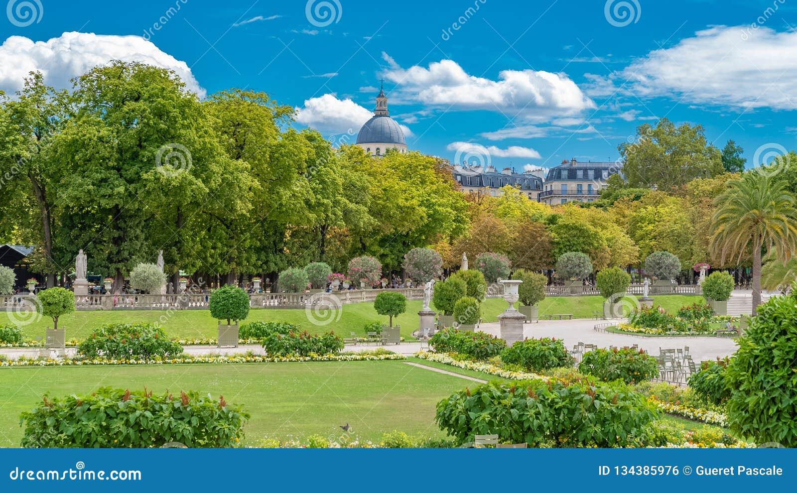 Paris, the Luxembourg garden