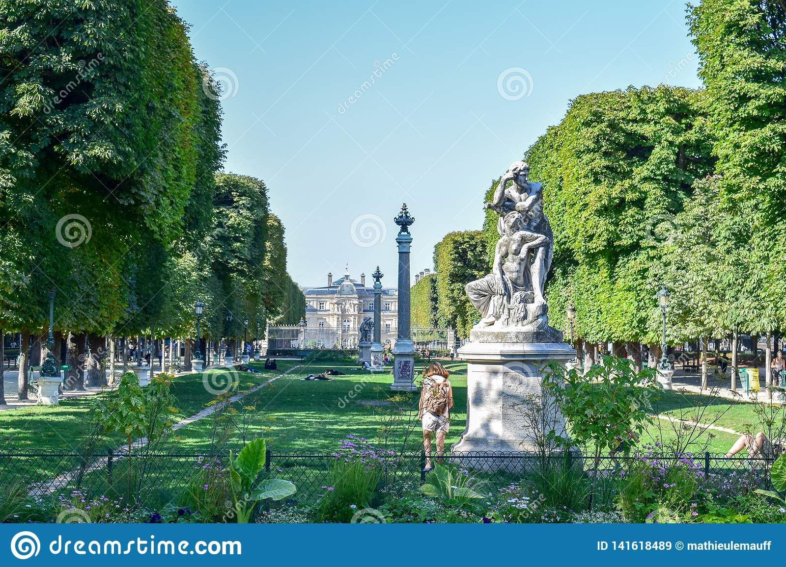 Paris Luxembourg Palace and Gardens in Summer