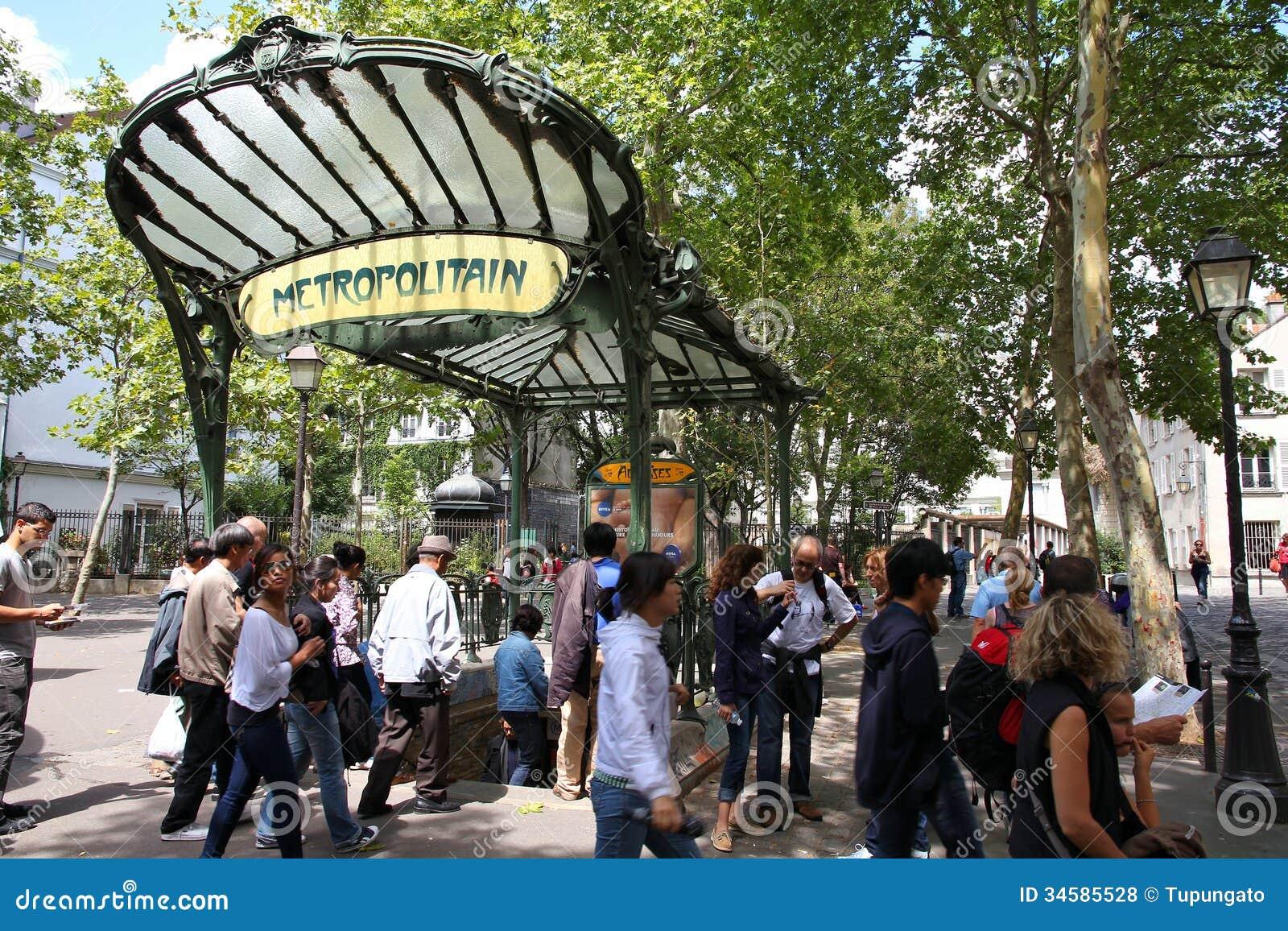 Underground Vector Paris metro station ed...