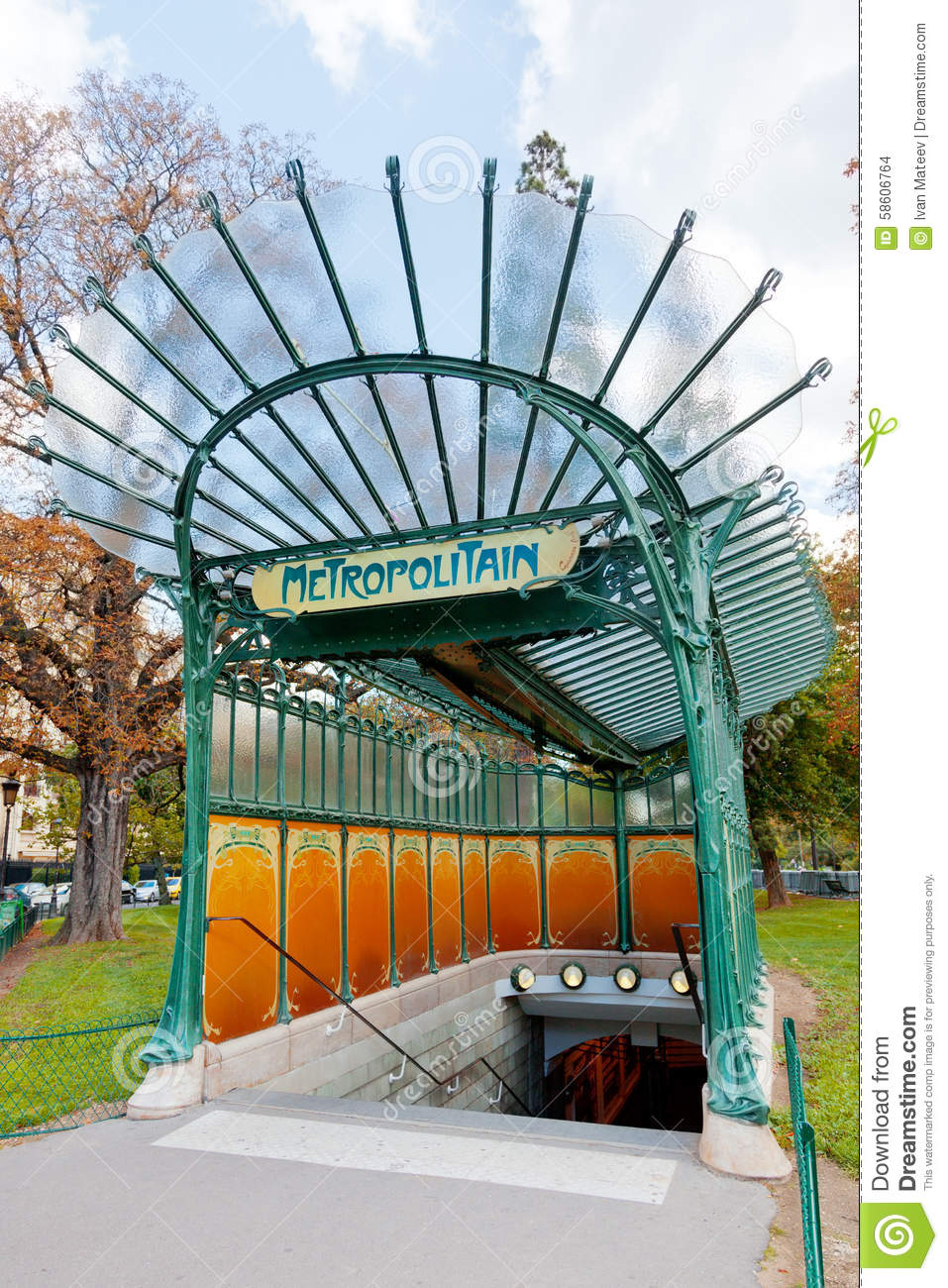 paris metropolitan editorial stock image image of street 58606764