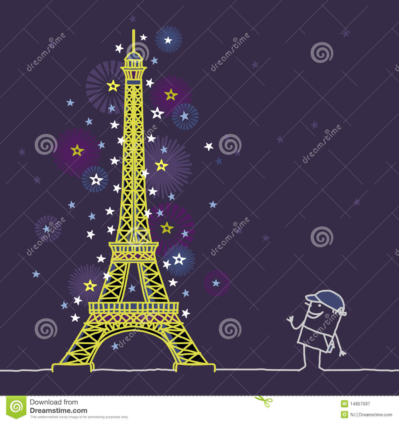 Paris by night royalty free stock photography image for Paris night time