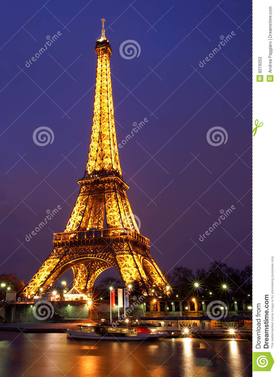 Paris by night eiffel tower editorial photography image for Paris night time