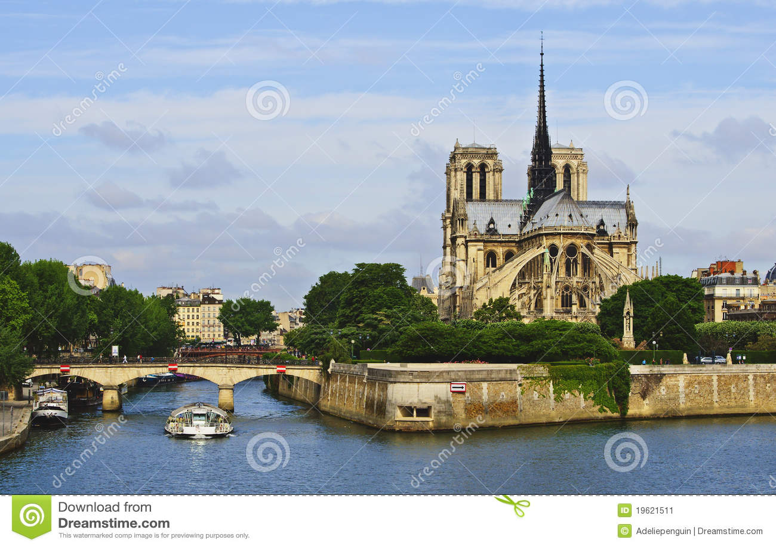 Paris, Notre Dame on the River Seine