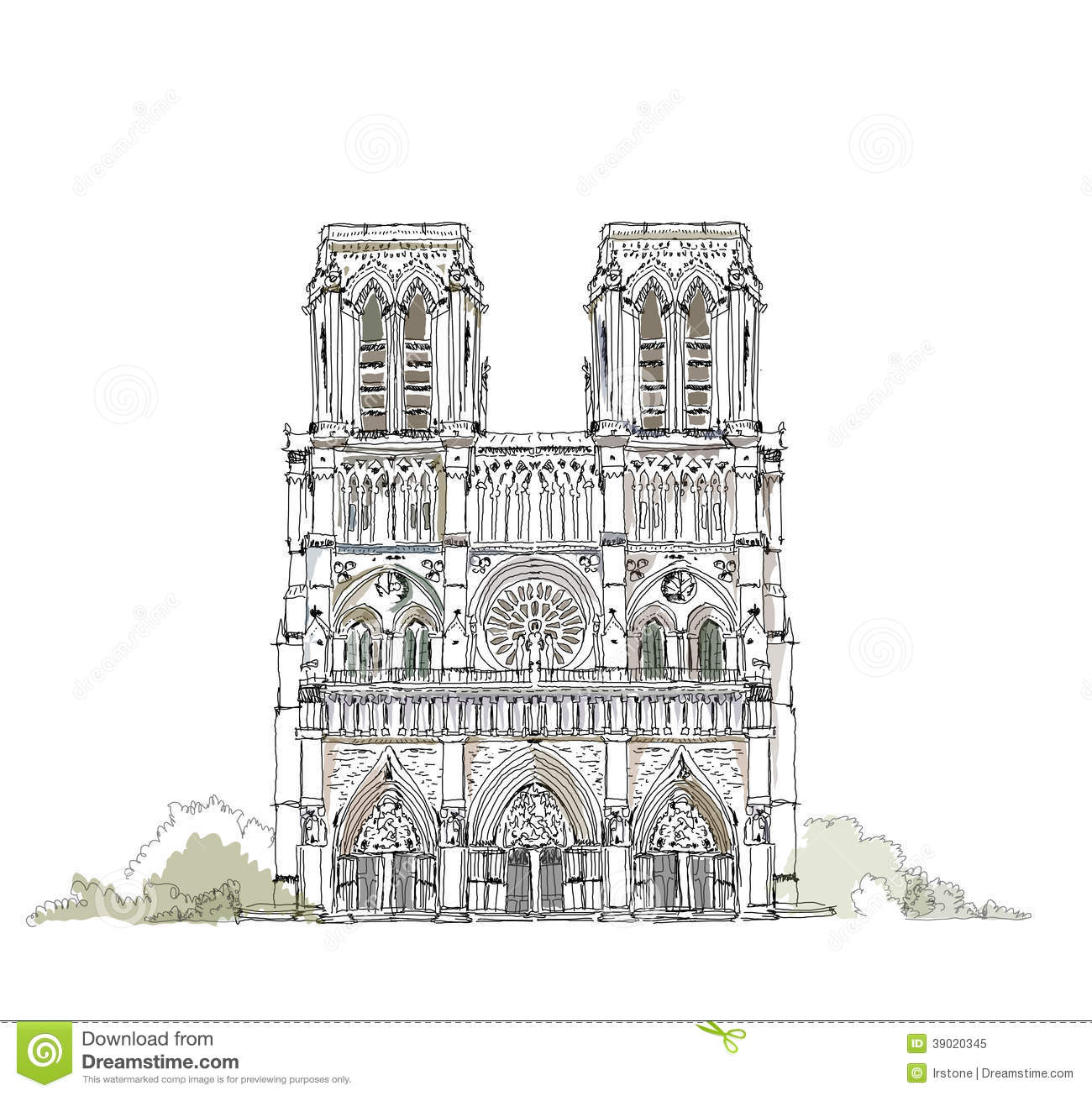 Royalty Free Stock Photo Paris Notre Dame Sketch Collection De Illustration Image39020345 on tower bridge cartoon