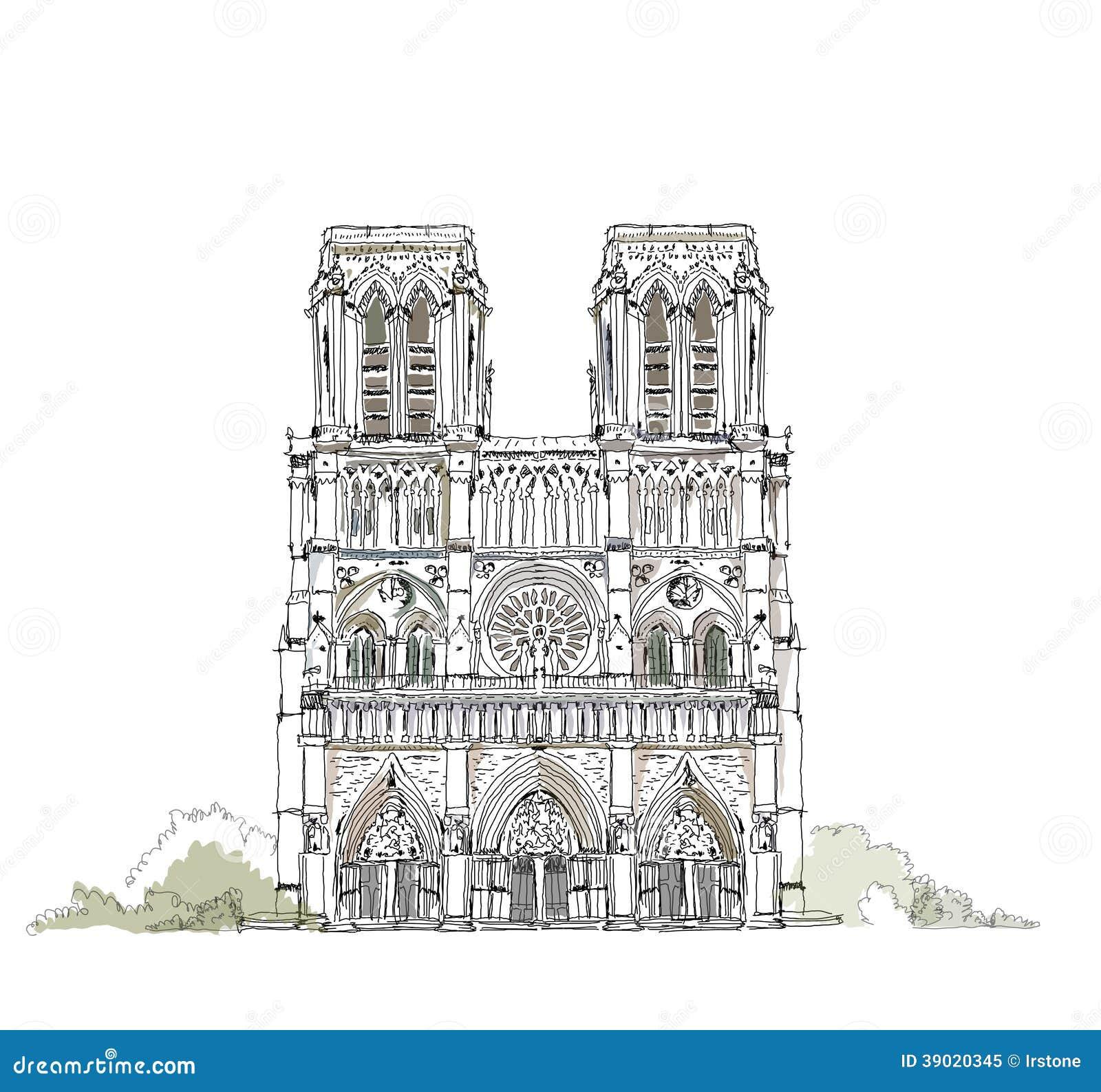 Paris, Notre Dame, sketch collection