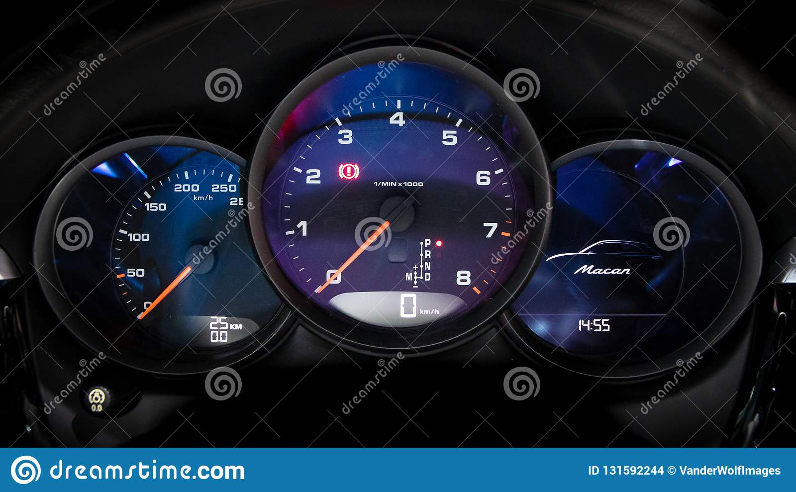 Modern Digital Dashboard Gauges Inside The New Porsche Macan