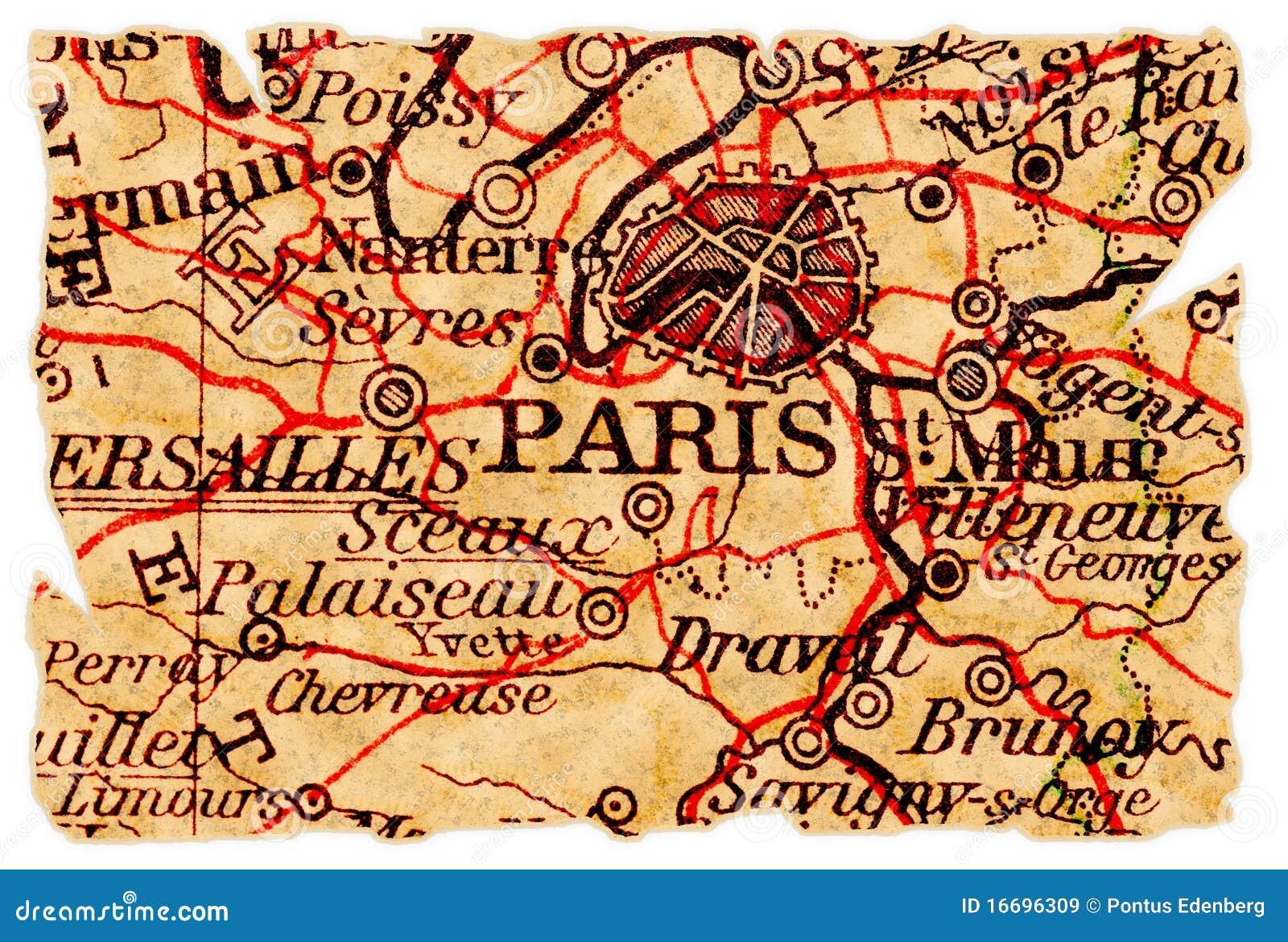 Old paris street map royalty free stock photo image 15885665 - Paris Old Map Royalty Free Stock Images