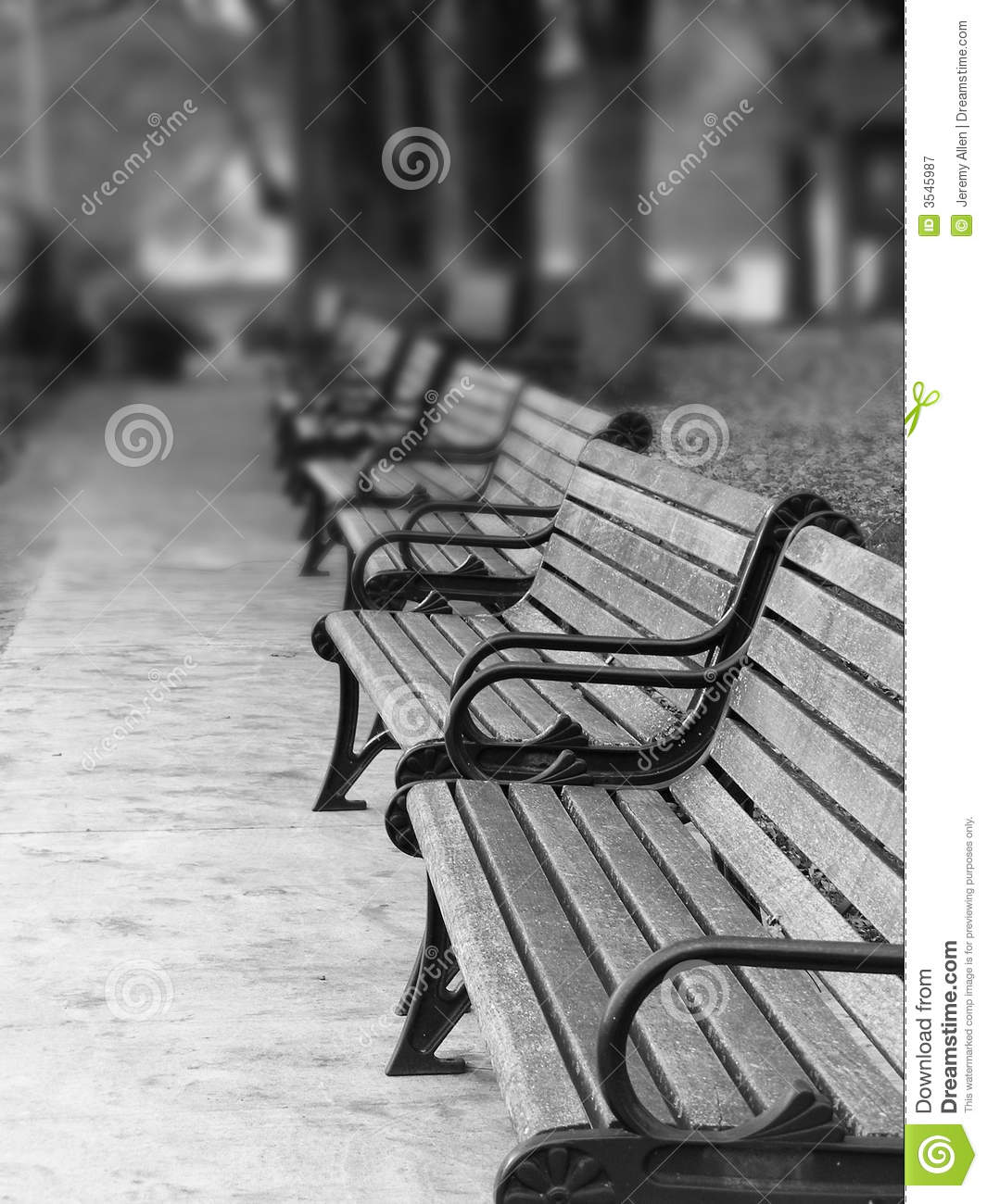 Paris Park Benches Royalty Free Stock Photography Image