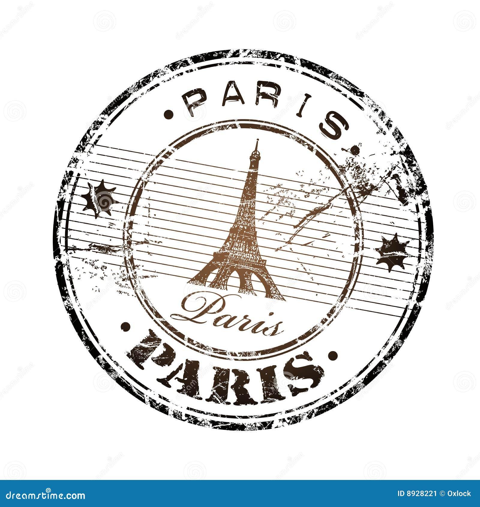 Paris Rubber Stamp Stock Image - Image: 8928221