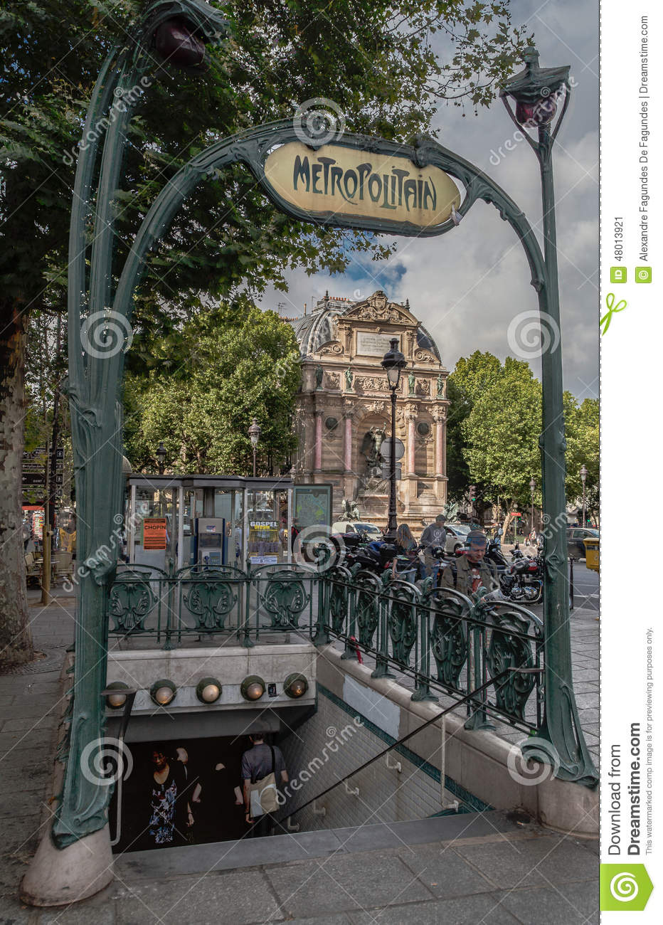 Paris saint michel subway station editorial photo image - Saint michel paris metro ...