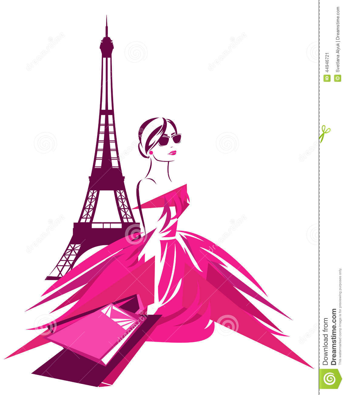 Paris Shopping Stock Vector