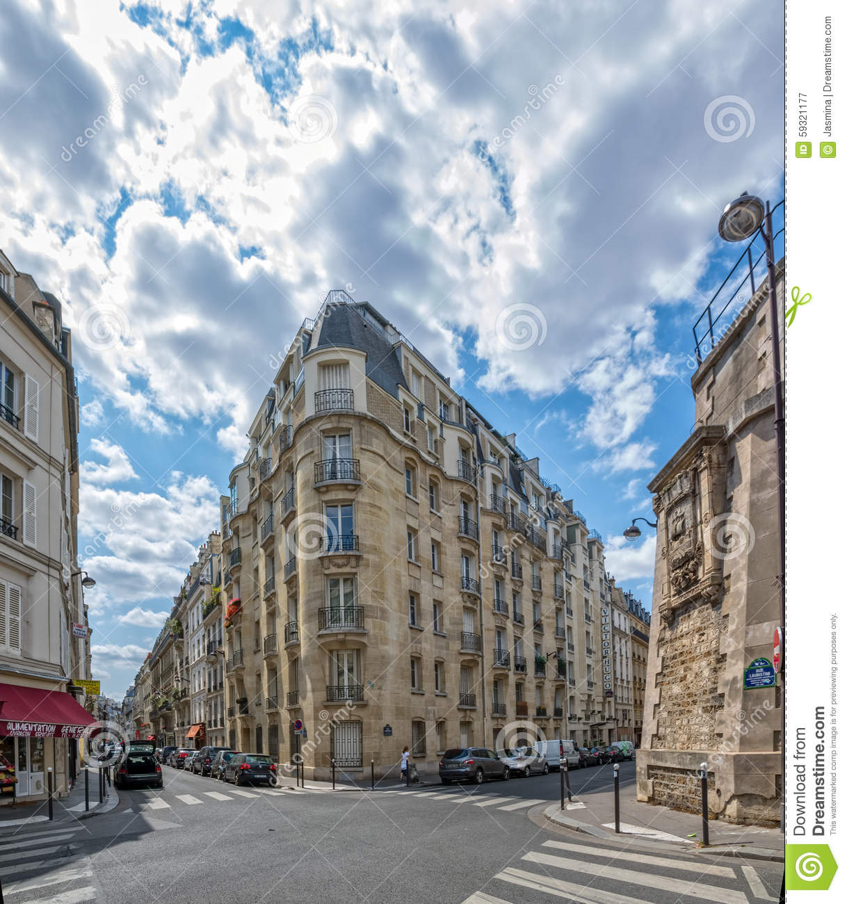 Paris Street Crossing Editorial Photography  Image Of