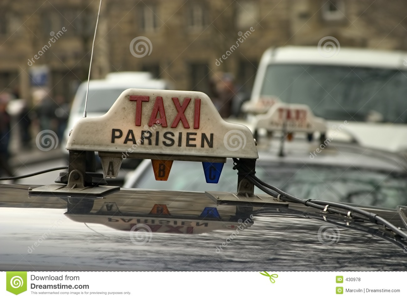 paris taxi stock photo image of vehicle driver holiday 430978. Black Bedroom Furniture Sets. Home Design Ideas