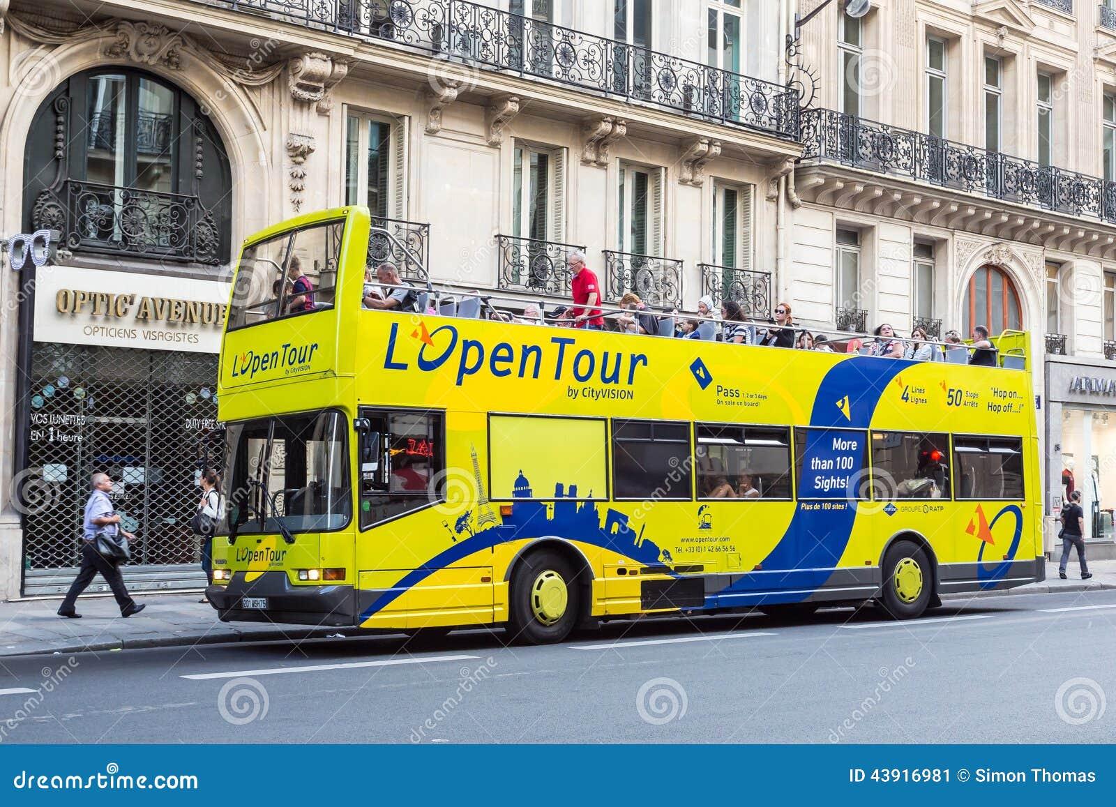 paris tour bus editorial photo image 43916981. Black Bedroom Furniture Sets. Home Design Ideas
