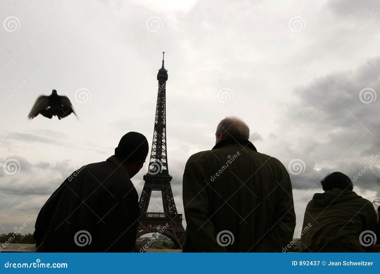 Paris turystów